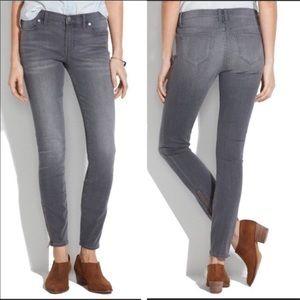 Madewell Skinny Skinny Zip Summerstorm Jeans SZ 28